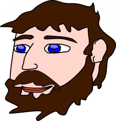 Beard clipart bearded man Moustache art clipart Cliparts DownloadClipart