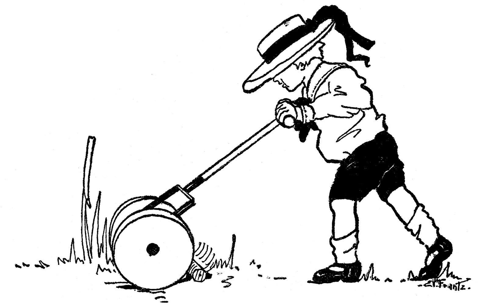 Reed clipart lawn maintenance Collection lawn Clip Summer Boy