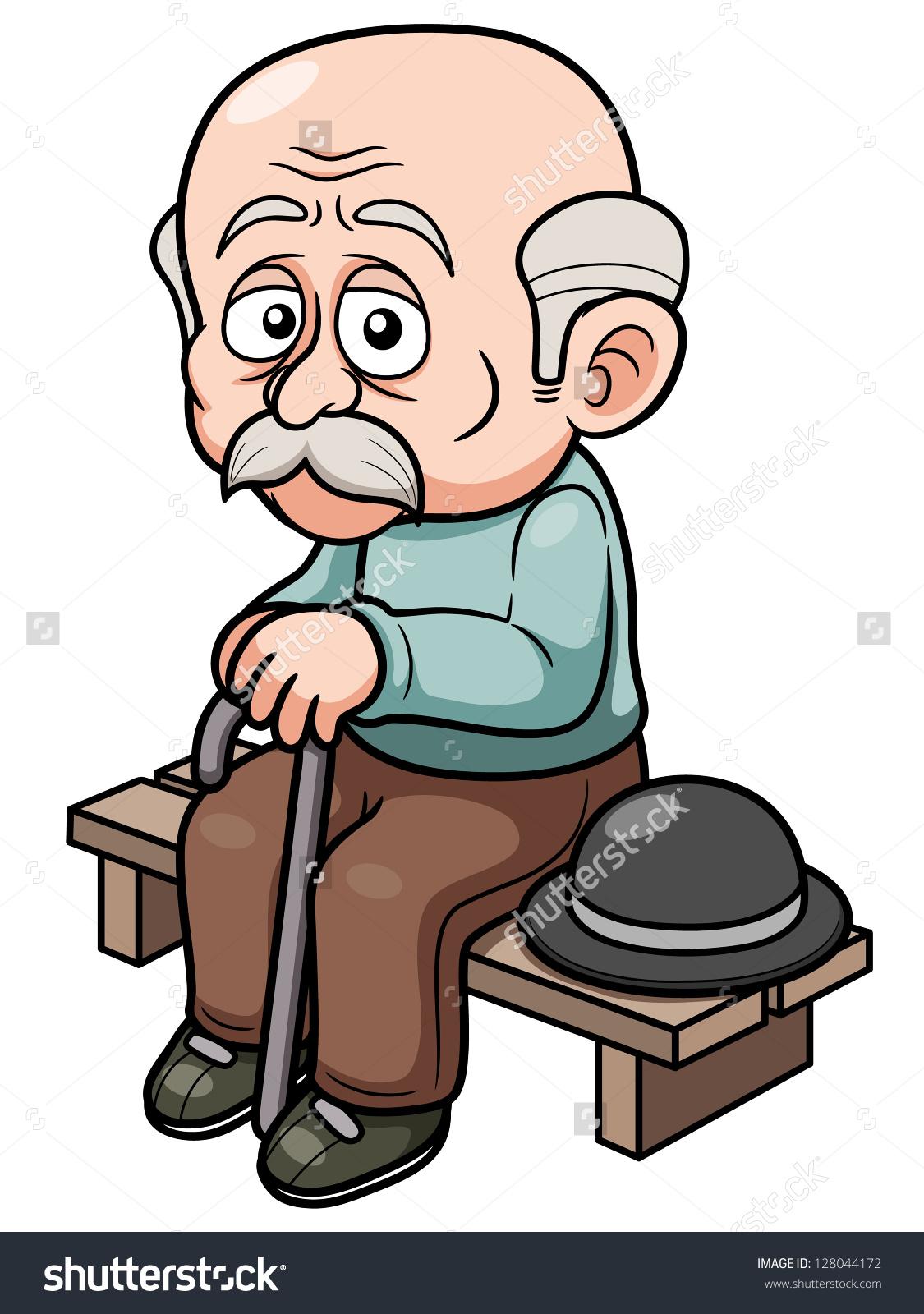 Men clipart old age Men age park clipart Clipart