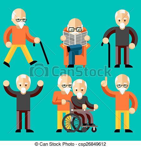 Men clipart old age  comfort Older Elderly in
