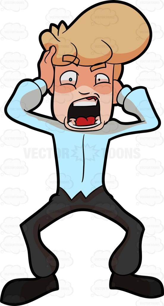Fear clipart fright Terror Clipart Cartoon Man A