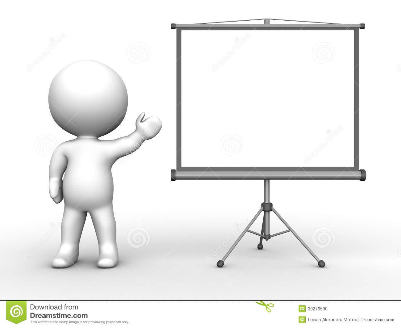 3D clipart 3d man Table Man man presentating Presentation
