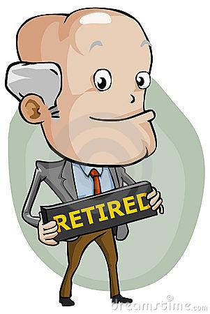 Old clipart retired person Com Art Stock Retirement Illustrations