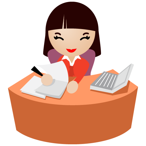 Office clipart female office worker Clipart secretary com Office clipart