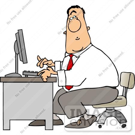 Men clipart secretary Caucasian clipart Business on Typing