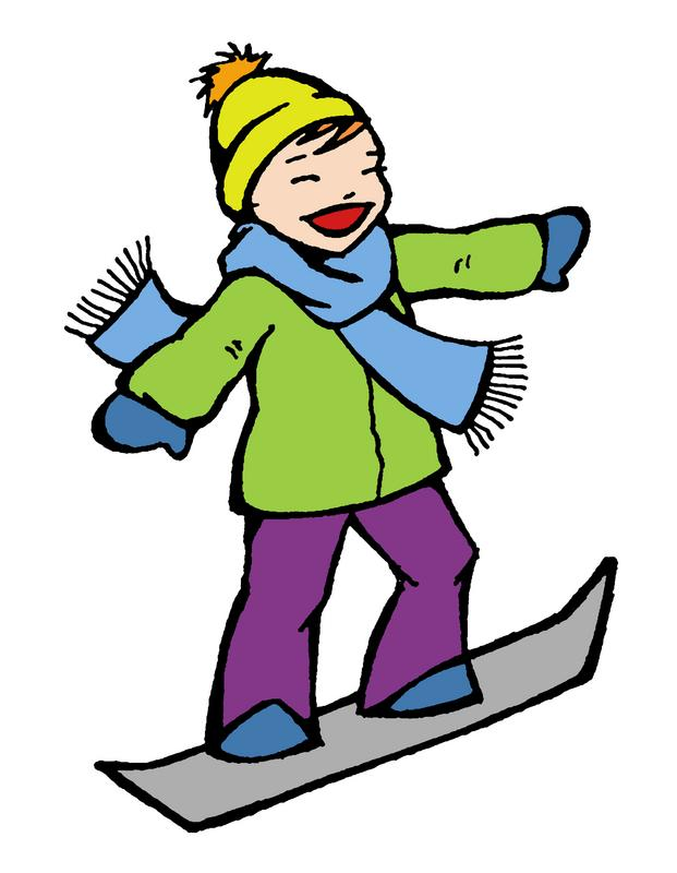 Snowboarding clipart skiing  Clipart Snowboard