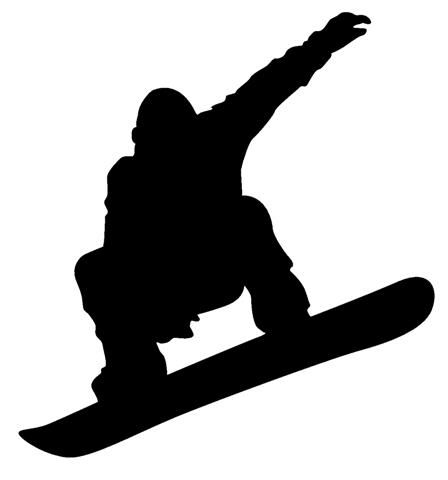 Snowboarding clipart man Silhouettes on images Skiiers Google