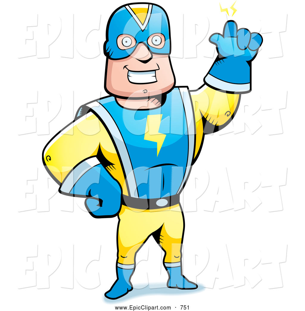 Men clipart superhero A Vector of collection super