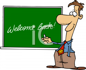 Smiley clipart teacher A of  Chalkboard a