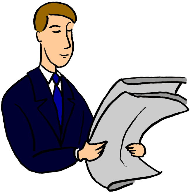 Paper clipart man Clipart transparent collection image Reading