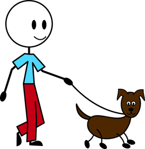 Boy clipart walking dog Walk Cliparts Free Clip Art