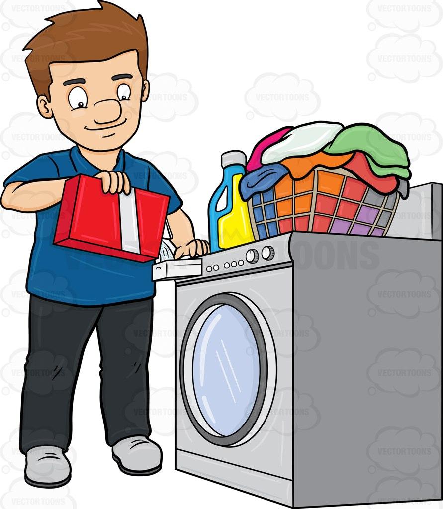 Sick clipart washing machine Adding his adding powder of