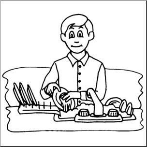Plate clipart clean dish Collections Gallery Man Clipart washing