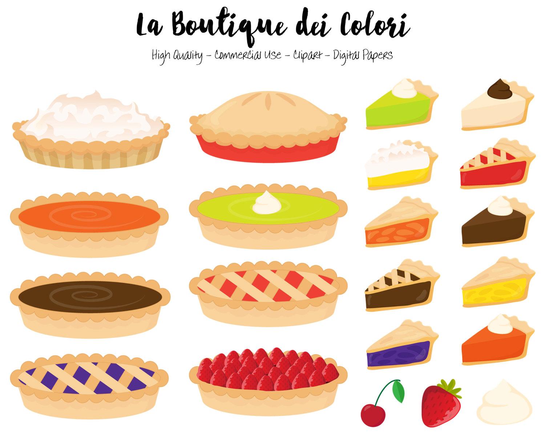 Meringue clipart Pie Cute Pie digital file