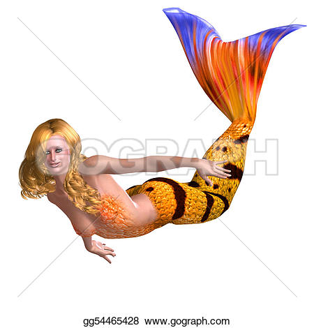Mermaid clipart beautiful mermaid Stock Illustration beautiful mermaid Beautiful