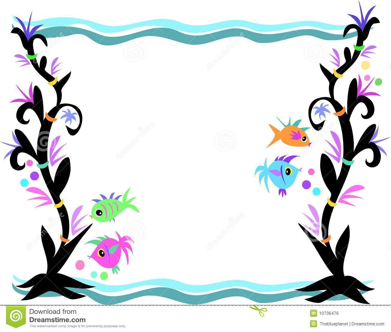 Mermaid clipart border Clipart Clipart Border Music Seaweed