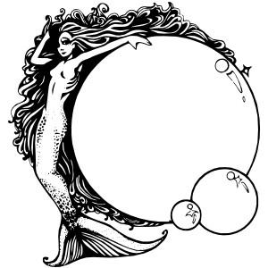 Mermaid clipart bubble With Bubbles art Bubbles art