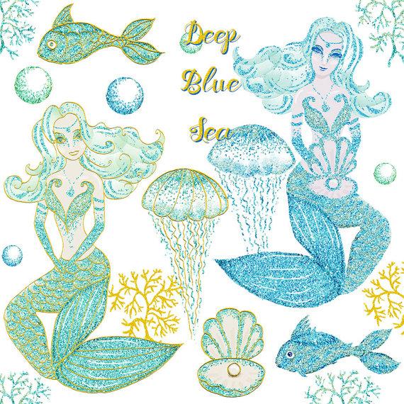 Mermaid clipart bubble Effects sea clipart collection bubbles