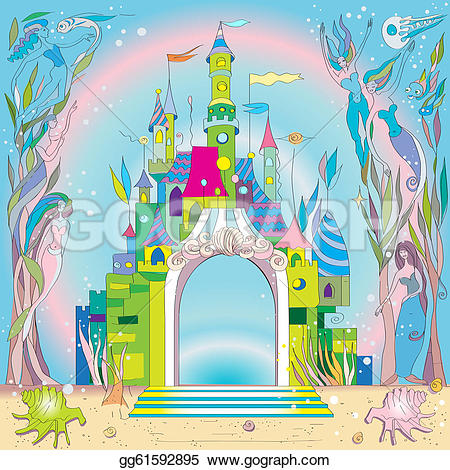 Mermaid clipart castle Tale fishes Clipart with the