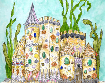Mermaid clipart castle Art Clip Download Sea Clip