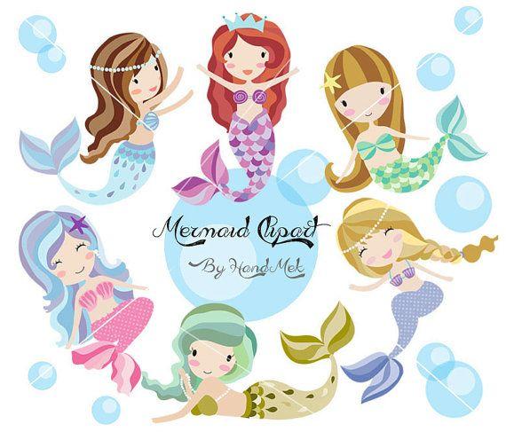 Mermaid clipart cute mermaid Mermaid PNG Cute Pinterest 300