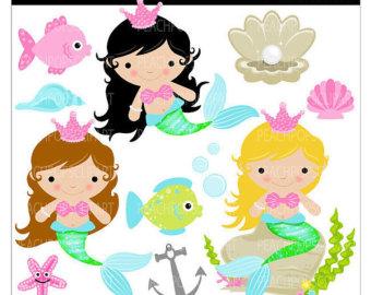 Mermaid clipart cute mermaid Kids Panda cute%20mermaid%20clipart Clipart Images