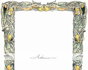 Mermaid clipart frame Art Crafts Printable Paper Etsy