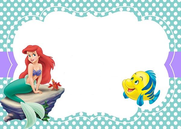 Mermaid clipart frame Invite Invite Printables Birthday Little
