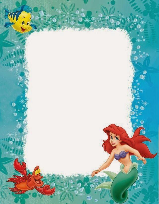 Mermaid clipart frame Mermaid Little on best Pinterest