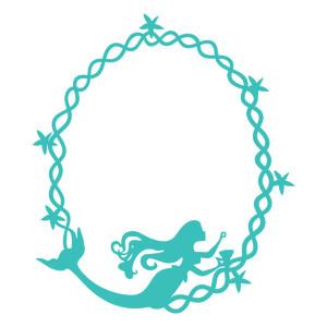 Mermaid clipart frame Oval mermaid frame mermaid Store