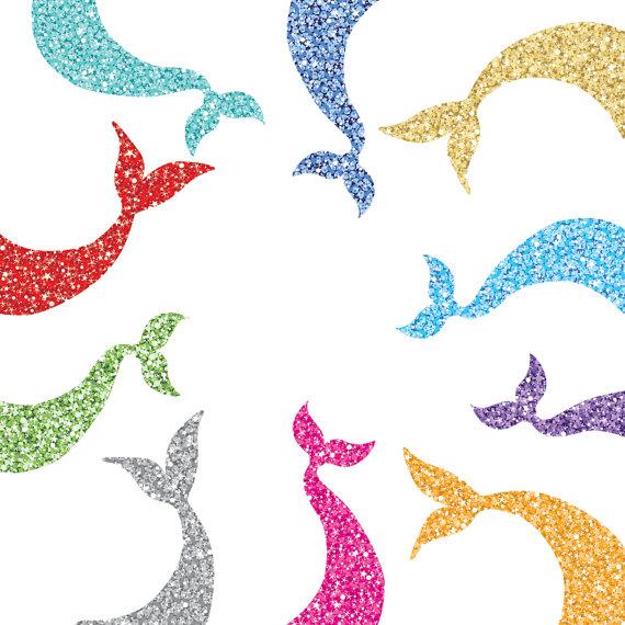 Mermaid clipart glitter Two Mermaid Styles file Glittering