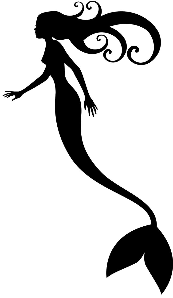 Mermaid clipart line drawing About silhouette mermaid on sketches