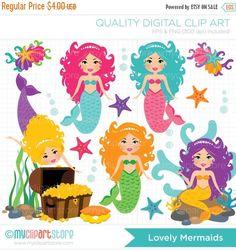 Mermaid clipart lovely The Art Clipart treasure Lovely
