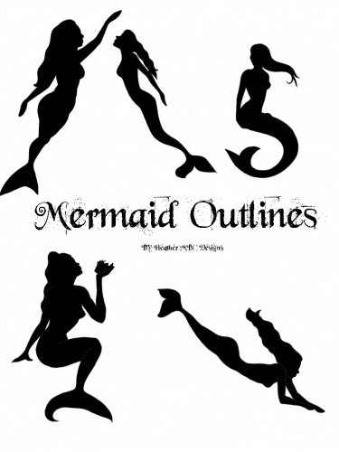 Realistic clipart mermaid #9
