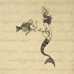 Mermaid clipart old fashioned Clip more Jpg Download Art