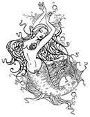Mermaid clipart old fashioned Illustrations Free · mermaid Mermaid