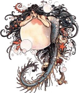 Mermaid clipart old fashioned Reproductions  Vintage Vintage Reproductions