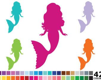 Mermaid clipart pink mermaid #7