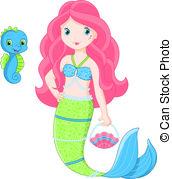 Mermaid clipart pink mermaid #15
