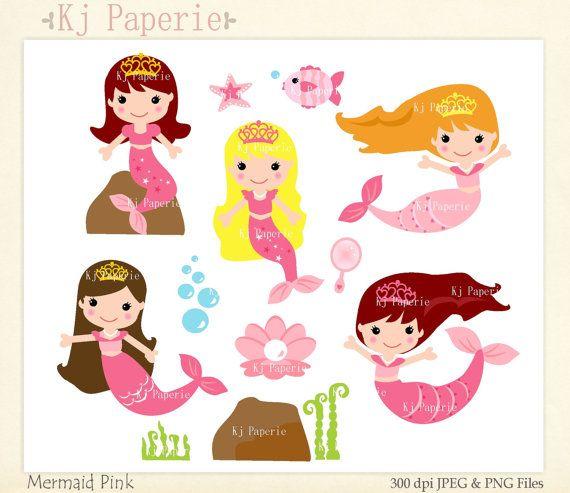 Mermaid clipart pink mermaid #5
