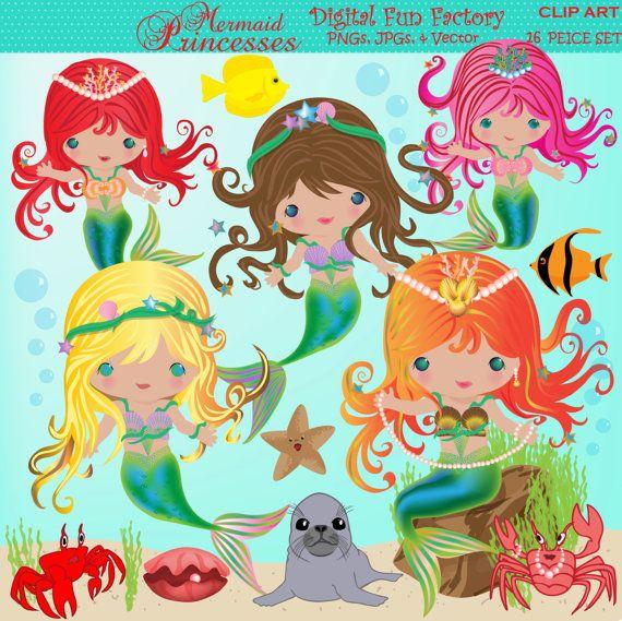 Mermaid clipart public domain Mermaid Mermaids best Princess Clip