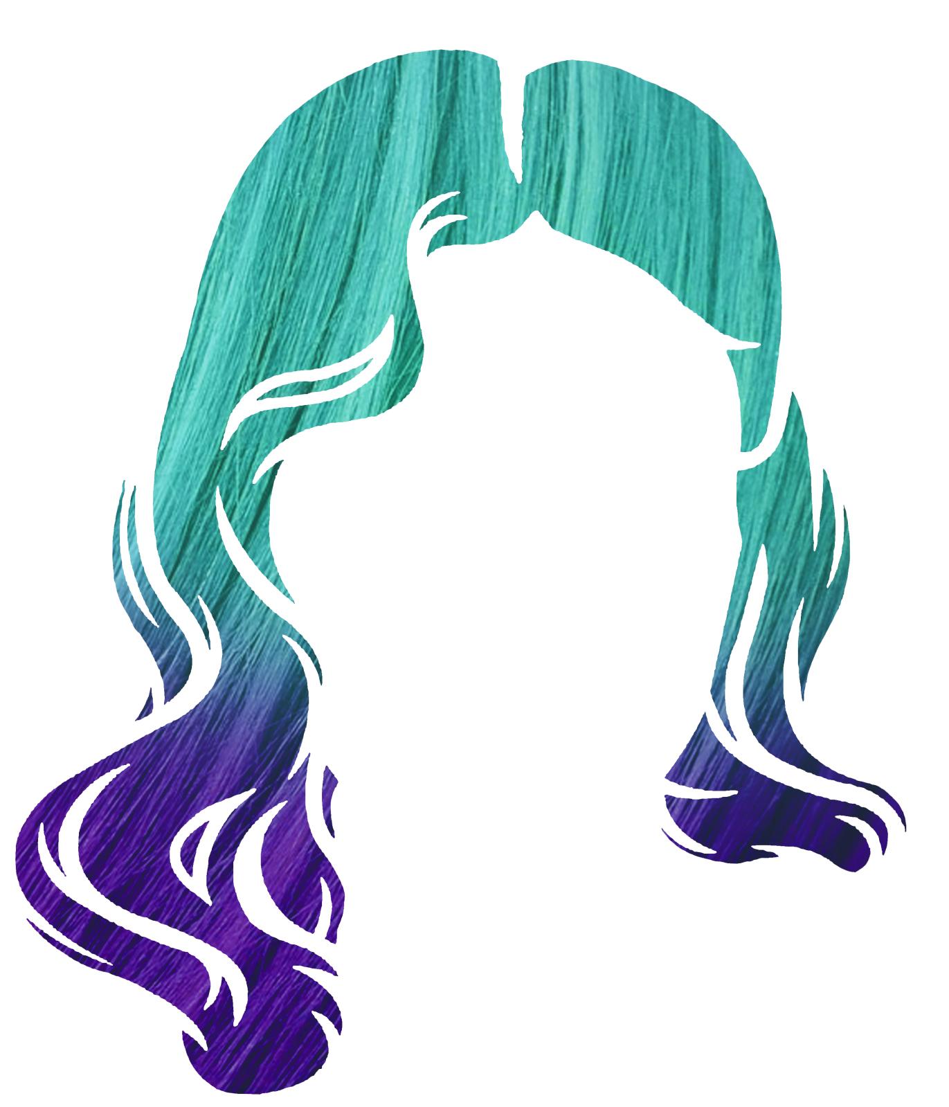 Mermaid clipart purple hair – Hair Mermaid Mermaid Hair