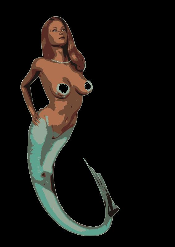 Realistic clipart mermaid #3