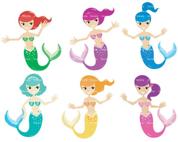 Mermaid clipart simple Free Mermaid Art clipart Free