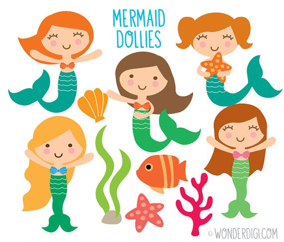 Mermaid clipart simple Clipart Sea Mermaid wonderdigi Creatures