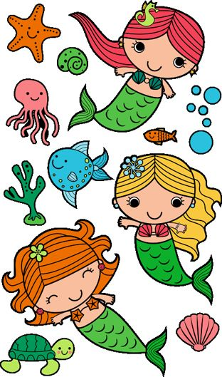 Mermaid clipart simple 108 Simple to on recreate