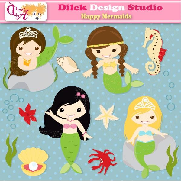 Mermaid clipart simple Card craft Dilek 21 clipart