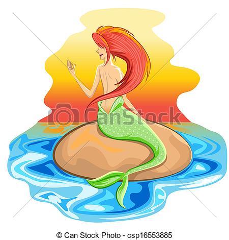Mermaid clipart siren Mermaid Creature  Mythological csp16553885