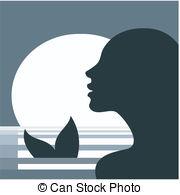 Mermaid clipart siren Vector profile clip 7 vector