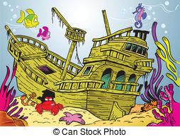 Compass clipart ship wreck Sunken ship a Art and